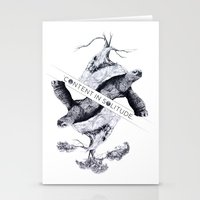 Content in Solitude Stationery Cards