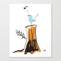 Nursery Bird Canvas Print