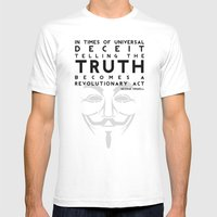 Truth Revolution - V For… Mens Fitted Tee White SMALL