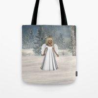 Little Winter Angel Tote Bag