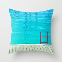 Red Ladder Throw Pillow