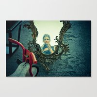 the girl inside Canvas Print