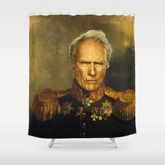 Clint Eastwood - replaceface Shower Curtain