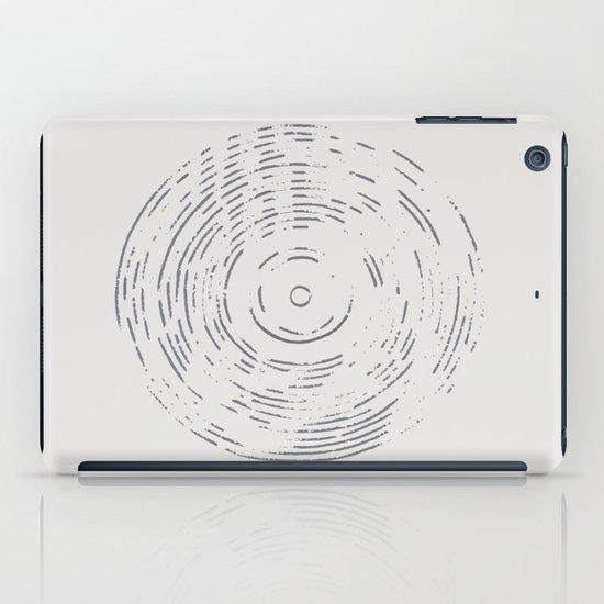 Record Black and White iPad Case