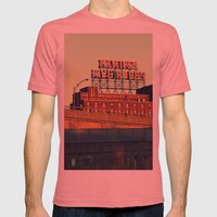 Montreal Five Rose  Mens Fitted Tee Pomegranate SMALL