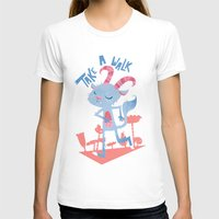 Take A walk Womens Fitted Tee White SMALL