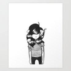Cat Nest Art Print