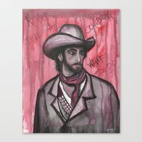 Never Tell A Cowboy What To Do Canvas Print