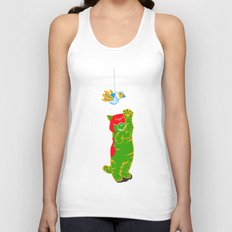 Here Battle Kitty Kitty Unisex Tank Top