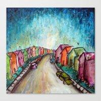The Street Near My Stree… Canvas Print