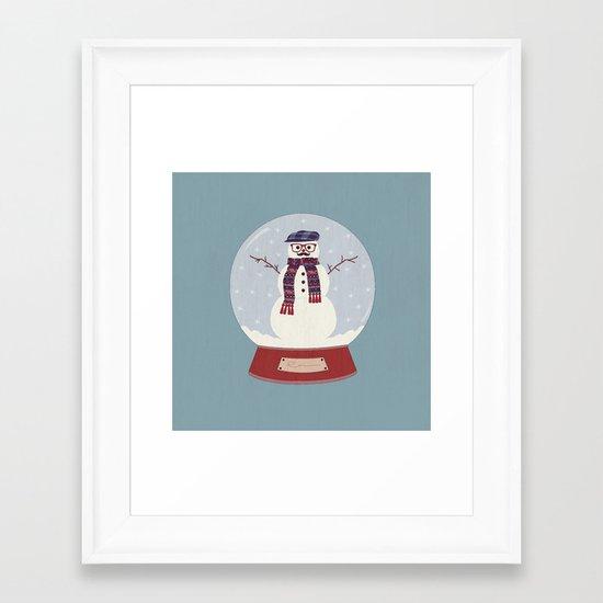 Let it snow, man! Framed Art Print