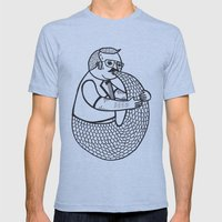 On the rare and condemned practice of trying to suckle on one's own tail Mens Fitted Tee Athletic Blue SMALL