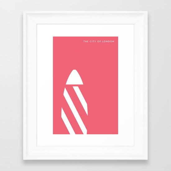 "Iconic London: The ""Gherkin"" Framed Art Print"