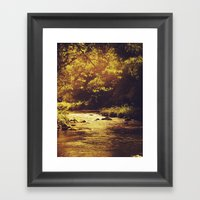 Go With The Flow... Framed Art Print