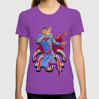 Hometown Hero Womens Fitted Tee Ultraviolet SMALL