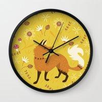Cute as a Fox Wall Clock