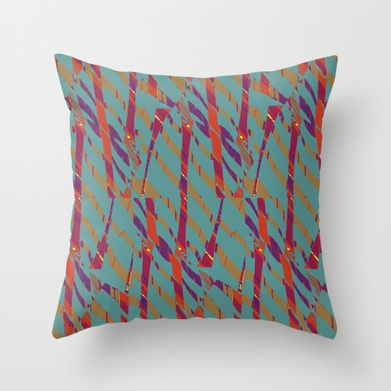 TORN STRIPES Throw Pillow
