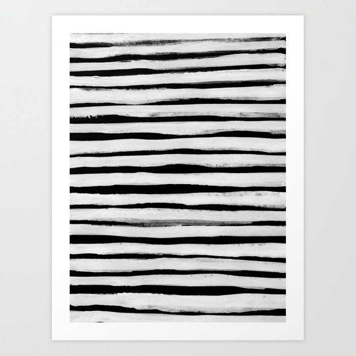Sunday's Society6 | Black and white stripes painting art print