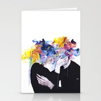 lips Stationery Cards featuring intimacy on display by agnes-cecile