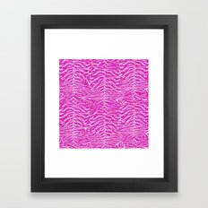 Pink Glitter Animal Prin… Framed Art Print