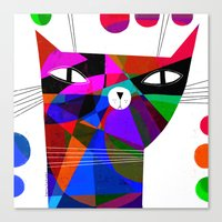 MOSAIC CAT Canvas Print