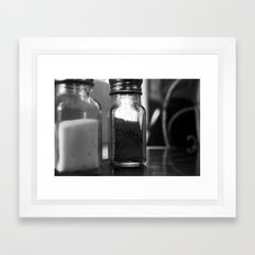 Salt & Pepper Framed Art Print