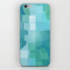 Blue And Green 3D iPhone & iPod Skin
