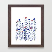 Flowers - floral - flowers - pattern  Framed Art Print