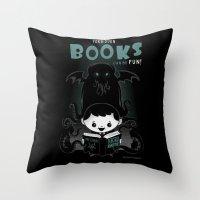 Forbidden books can be fun! Throw Pillow