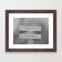 Matching Fortunes. Framed Art Print