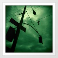 Shoes and Wires Art Print