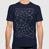 Segment Zoom Black and White Mens Fitted Tee Navy SMALL