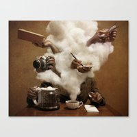 Caffeinated Canvas Print