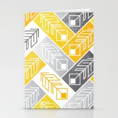 Bright Geometric Print Stationery Cards