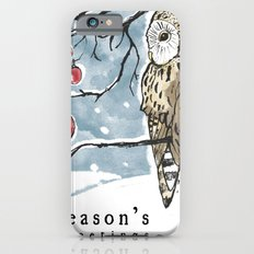 Lonely Owl Christmas Card iPhone 6 Slim Case