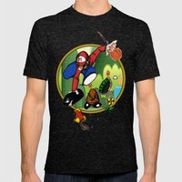 Mario landS Mens Fitted Tee Tri-Black SMALL