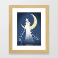 Moon Princess Framed Art Print
