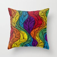 Rainbow Hair Throw Pillow