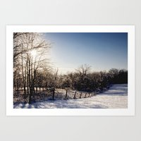 Frozen Countryside Art Print