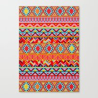 India Style Pattern (Multicolor) Canvas Print