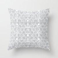 Heart Chandelier Throw Pillow