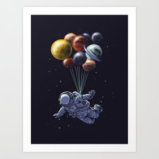 Space travel Art Print