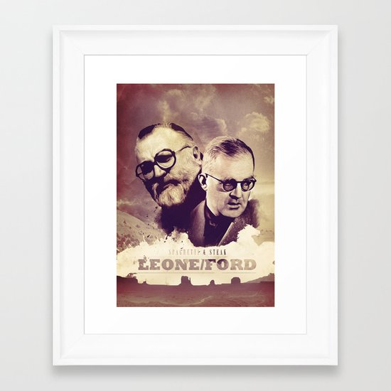Sergio Leone/John Ford Framed Art Print