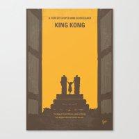 No133 My KING KONG minimal movie poster Canvas Print
