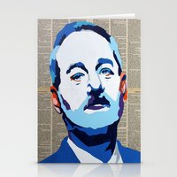 bill murray Stationery Cards featuring Bill Murray by VenusArtist