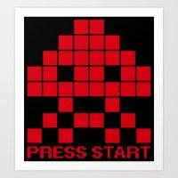 Space Invader Art Print