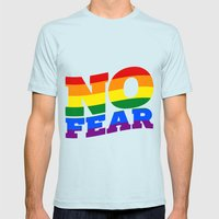 NO FEAR Mens Fitted Tee Light Blue SMALL