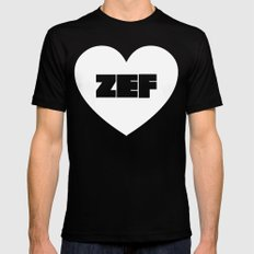 ZEF Heart Mens Fitted Tee SMALL Black