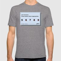 Inappropriate Mens Fitted Tee Tri-Grey SMALL
