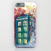 iPhone Cases featuring Doctor Who Tardis by Jessi Adrignola